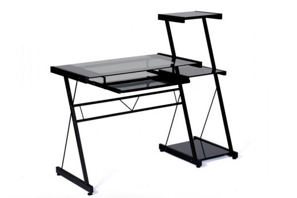 Стол стекло прозрачное/черный каркас 26464