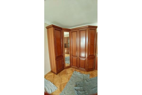 Шкафы угловые в орехе №4163