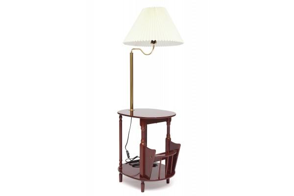 Столик газетница с лампой